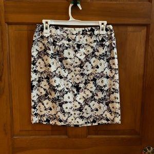 Donna Ricco Patterned Skirt